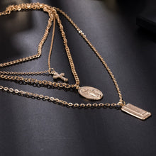 Load image into Gallery viewer, Bohemia Gold Color Cross Layered Necklace