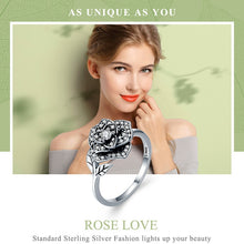 Load image into Gallery viewer, Rose Flower Dazzling CZ Tree Leaf Finger Rings