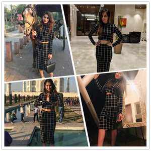 Stand Collar Long Sleeve 2 Piece Set Women