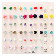 Load image into Gallery viewer, Handmade 30 Pairs/set Classic Women's Pearl Earrings