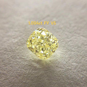 Yellow Diamond GIA Certified VS2 Fancy