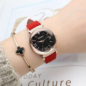 New Fashion Rose Gold Leather Watches