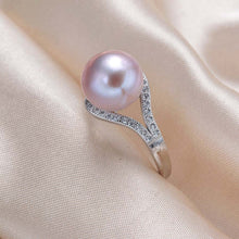 Load image into Gallery viewer, Silver pearl ring