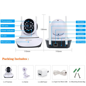 HD 1080P 2MP Home Security IP Wireless Camera
