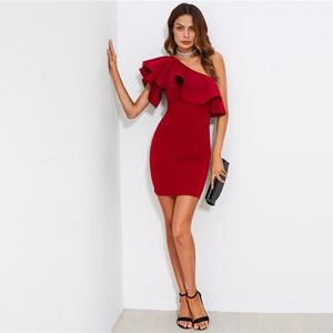 Red Bodycon Summer 2019 Dress