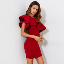Load image into Gallery viewer, Red Bodycon Summer 2019 Dress