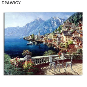 Framed Wall Canvas Pictures DIY Oil Painting