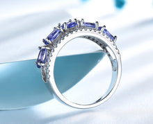 Load image into Gallery viewer, 3.0ct Blue Sapphire Tanzanite Rings