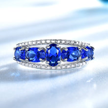 Load image into Gallery viewer, Blue Sapphire Tanzanite Topaz Engagement Rings