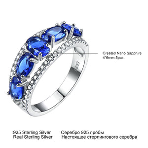 Blue Sapphire Tanzanite Topaz Engagement Rings
