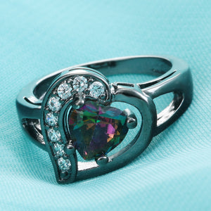 Vintage Romantic Heart love ring