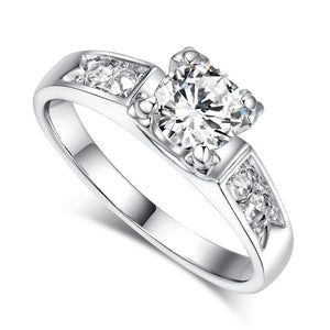 6 Items Classical Cubic Zirconia Forever Wedding Ring