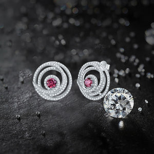 Tanzanite & Garnet White Topaz Delicate Earrings