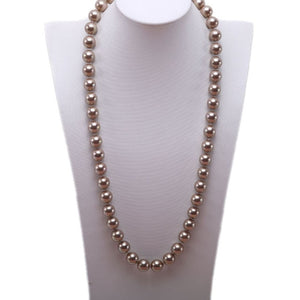Long Seashell Pearl Necklace