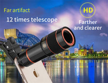 Load image into Gallery viewer, 12x Optical Phone Telescope Camera Lens for Smartphone