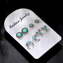 Load image into Gallery viewer, 4Pairs /Set Silver Earrings