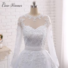 Load image into Gallery viewer, Pearls Beads 2 in 1 Wedding Dress 2019
