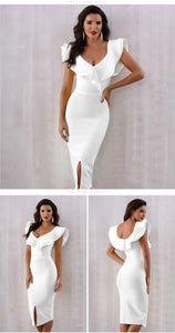 2019 Summer Sexy Off Shoulder Women Bandage Dress