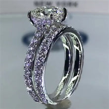 Load image into Gallery viewer, New Trendy Sparkling Round Cut Ring Set
