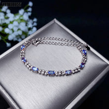 Load image into Gallery viewer, Women Natural Blue Tanzanite Bracelet