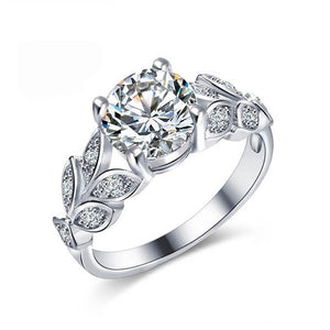 Wedding band rings 2pcs bridal set