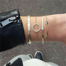 Load image into Gallery viewer, Handmade 5Pcs/Set Fashion Gold Bracelets