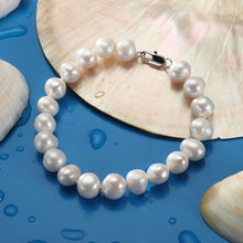 Load image into Gallery viewer, White Natural Pearl Bracelet Handmade