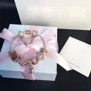 Pink Rose Gold Lady Bracelet