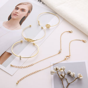Handmade 5Pcs/Set Fashion Gold Bracelets