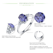 Load image into Gallery viewer, Solid 925 Silver Rings Tanzanite Gemstone