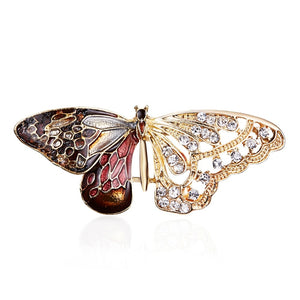Purple Enamel Butterfly Bragonfly Bird Brooches Men And Women's