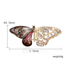 Load image into Gallery viewer, Purple Enamel Butterfly Bragonfly Bird Brooches Men And Women's