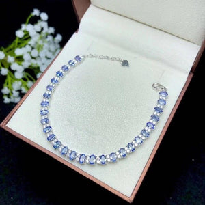 Real Silver Tanzanite Bracelet for Wedding