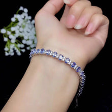 Load image into Gallery viewer, Real Silver Tanzanite Bracelet for Wedding