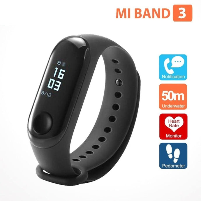 Original Xiaomi Mi Band 3 Smart Wristband Fitness Bracelet