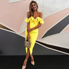 Load image into Gallery viewer, 2019 Summer Sexy Off Shoulder Women Bandage Dress