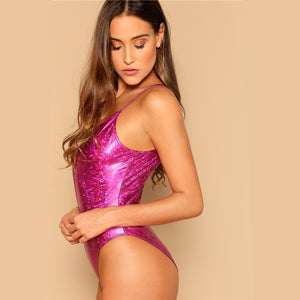 Purple Deep Skinny Sexy Bodysuit Women 2019 - LIMITED EDITION
