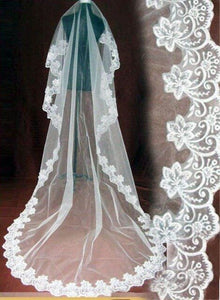 Wedding Bridal 3 Meters Long Elegant Cathedral Veil