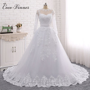 Pearls Beads 2 in 1 Wedding Dress 2019