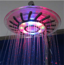Load image into Gallery viewer, 8 inch ABS led bath room showers with multicolor jump change type