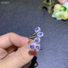 Load image into Gallery viewer, Natural Tested Tanzanite Silver Gemstone Ring