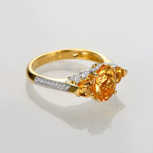 Load image into Gallery viewer, 14k Yellow Gold 1.96ct Natural Citrine & Diamond Ring