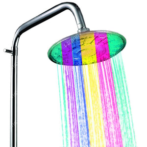 8 inch ABS led bath room showers with multicolor jump change type