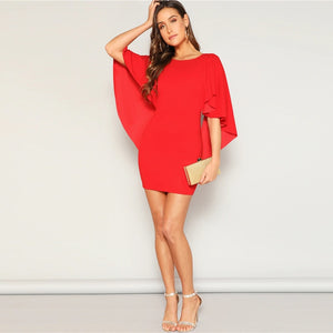 Red Glamorous Sexy Dress Women 2019