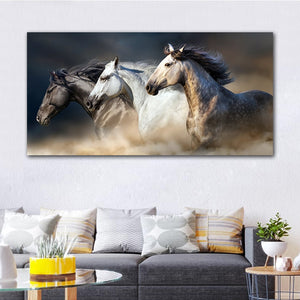 The Two Running Horse Canvas Art