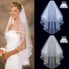 Load image into Gallery viewer, Simple Short Tulle Wedding Veils Two Layer With Comb