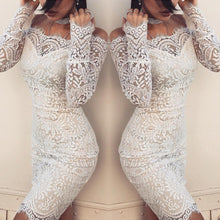 Load image into Gallery viewer, 2019 Fashion Elegant White Lace Women Dress