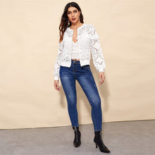 Load image into Gallery viewer, White Elegant Jacket Women 2019