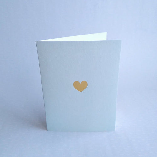 Gold Heart Mint Card