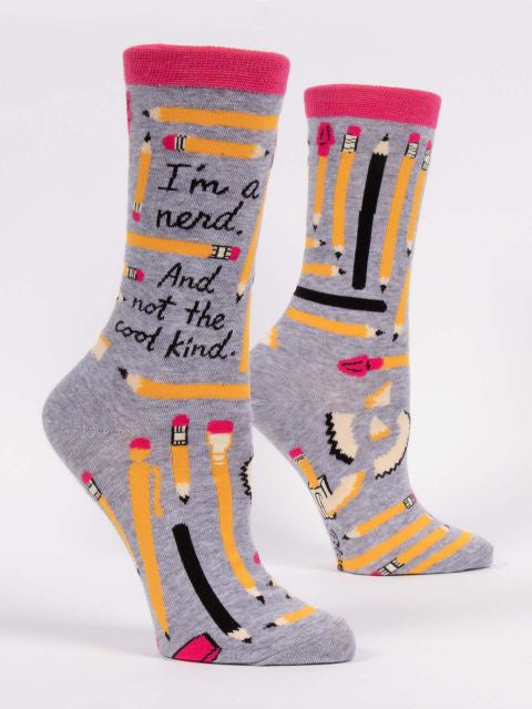 I'm a Nerd and Not the Cool Kind - Crew Socks
